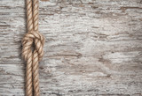 Ship rope and wood background