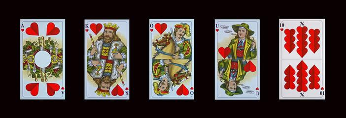 Schafkopf-Tarok - Trumpfkarten-Herz