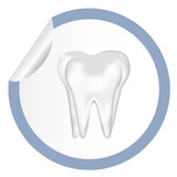 sticker icon web button with tooth