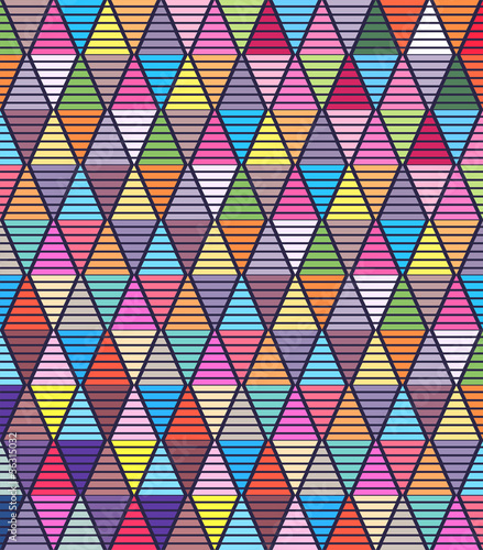beautiful colorful geometric style background