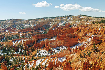 Spring Snow in a Red Rock Canyon