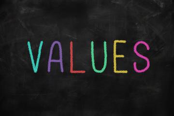 Leadership concept - values