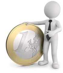 Euromünze Männchen