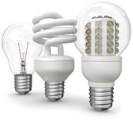 drei lampen