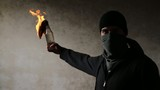 Assassin Gangster Threat Bomb Molotov Fire Terrorism Concept HD
