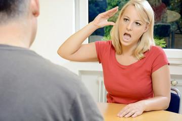 Gespräch in Gebärdensprache