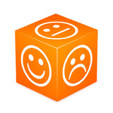Orange Cube With Smileys