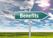 "Signpost ""Benefits"""