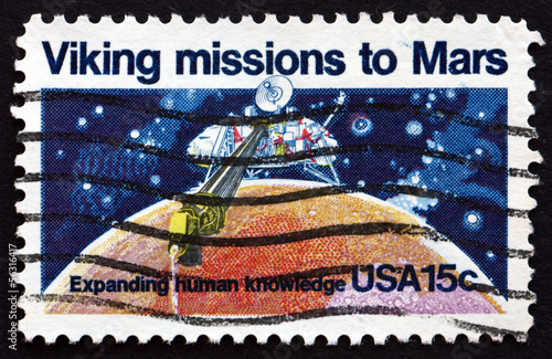 Postage stamp USA 1978 Viking 1, Robotic Space Probe