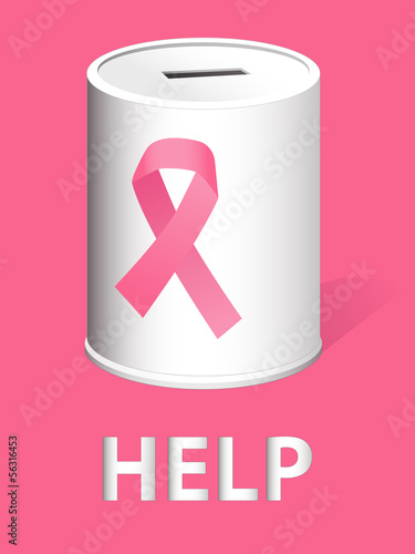 Donation can for breast cancer research and prevention