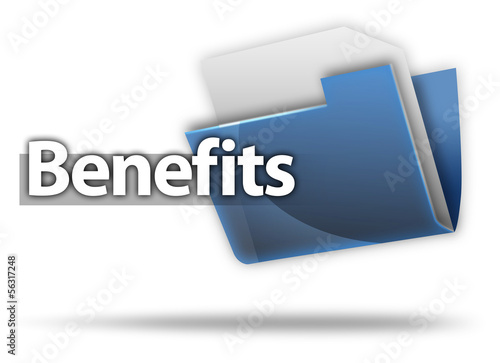 "3D Style Folder Icon ""Benefits"""