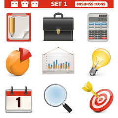 Vector Business Icons Set 1