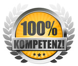100% Kompetenz! Button, Icon