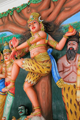 Statue of Lord Mahesh, Shiva at Sri Mahamariamman Indian Templ