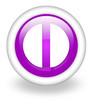 """Violet Icon """"Exit Symbol"""""""