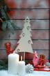 Weihnachtsdekoration mit Schlitten
