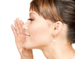woman whispering gossip