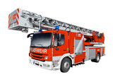 rotes Feuerwehr Auto isoliert - 56320222