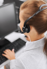 female helpline operator