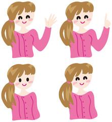 女性ピンク