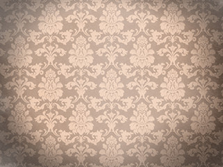 Damask background. Old wall. Glamour and fashion. Empty space fo