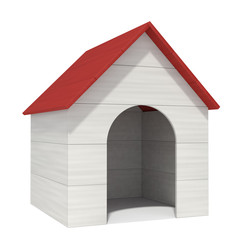 doghouse on a white background