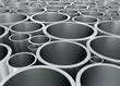 canvas print picture - Aluminium Rohre geordnet
