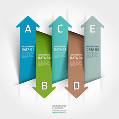 Abstract paper cut arrow background. Vector illustration. can be