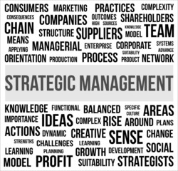 Strategic Menagement - word cloud