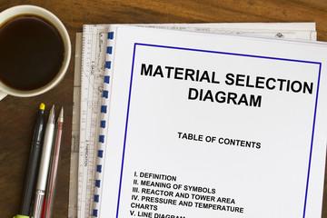 material selection diagram