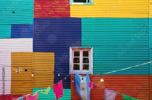 Typical wall in La Boca, Buenos Aires