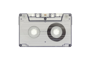The blue transparent cassette tape