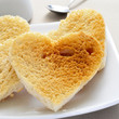 heart-shaped toasts