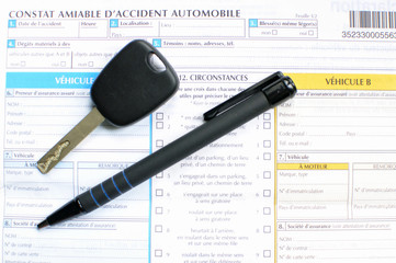 Constat amiable d'accident automobile