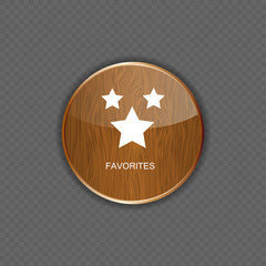 Favourites wood application icons vector illustration