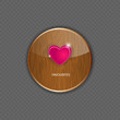 Heart wood application icons vector illustration