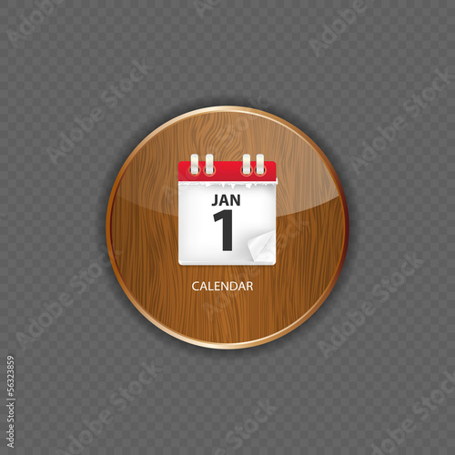Calendar wood application icons vector illustration
