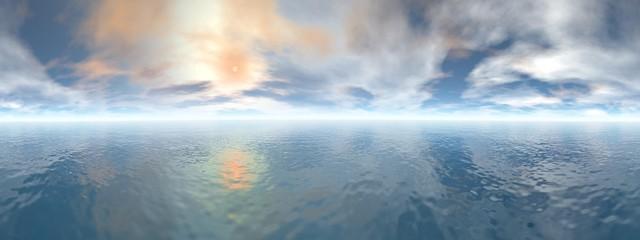 Ocean horizon - 3D render