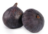 Two delicious ripe purple figs