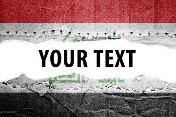 Iraq flag with text space.