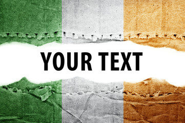 Ireland flag with text space.