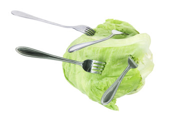 Iceberg Lettuce with Forks
