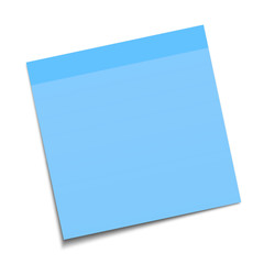 Blue sticky note with drop shadow, EPS 10