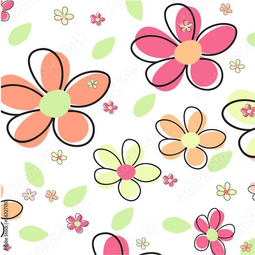 Tuinposter Abstract bloemen Seamless Flower Vector Background