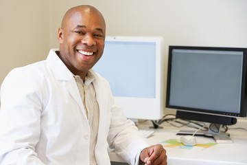 Portrait Of Male Obstetrician In Hospital