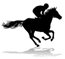 Jockey on a horse 7