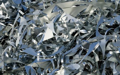 Altmetall Aluminium Recycling Schrotthaufen Rohstoff Hintergrund - 56328055