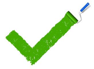Haken grün Farbe