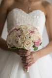 Beauty wedding bouquet of roses