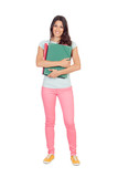 Pretty student girl with pink pants